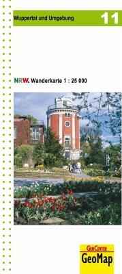 Wanderkarte Nordrhein-Westfalen Wuppertal und Umgebung