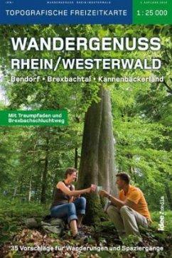 Wandergenuss Rhein-Westerwald, Topografische Freizeitkarte