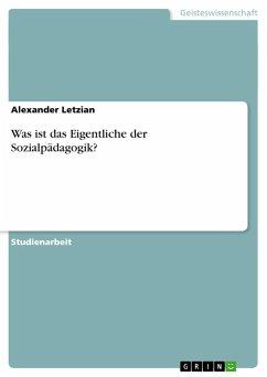 Was ist das Eigentliche der Sozialpädagogik? - Letzian, Alexander