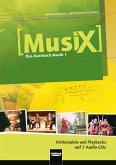 5./6. Schuljahr, 7 Audio-CDs / Musix - Das Kursbuch Musik Bd.1