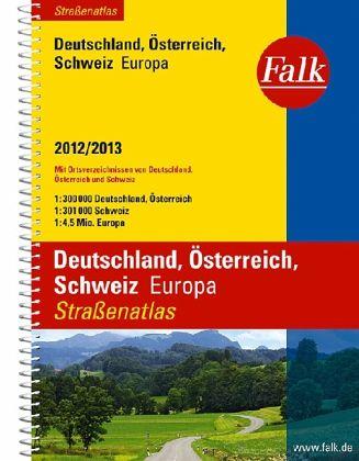 Falk Straßenatlas Deutschland, Österreich, Schweiz, Europa 2012/2013