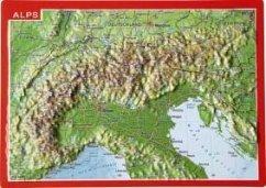 Reliefpostkarte Alpen