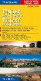 Travelmag Reisekarte Toskana, Marche, Umbrien; Tuscany, Marche, Umbria / Travelmag Reisekarten