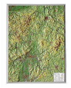 Hessen, Reliefkarte, Klein; Hesse