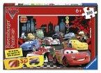 Ravensburger 13631 - Disney Cars: Schnell unterwegs, Puzzle mit 3D Brille, 100 Teile