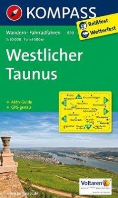 Kompass Karte Westlicher Taunus