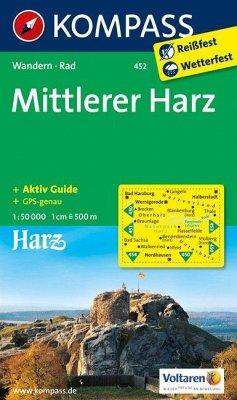 Kompass Karte Mittlerer Harz
