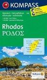 Kompass Karte Rhodos