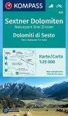 KOMPASS Wanderkarte Sextner Dolomiten, Naturpark Drei Zinnen, Dolomiti di Sesto, Parco Naturale Tre Cime