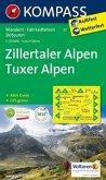 Kompass Karte Zillertaler Alpen, Tuxer Alpen