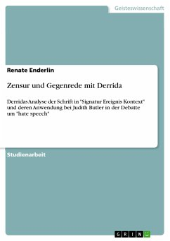 Zensur und Gegenrede mit Derrida - Enderlin, Renate