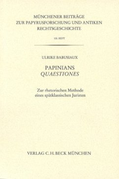Papinians Quaestiones - Babusiaux, Ulrike