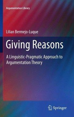 Giving Reasons - Bermejo Luque, Lilian