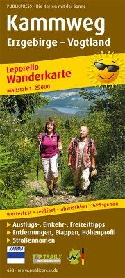 PublicPress Leporello Wanderkarte Kammweg Erzgebirge - Vogtland