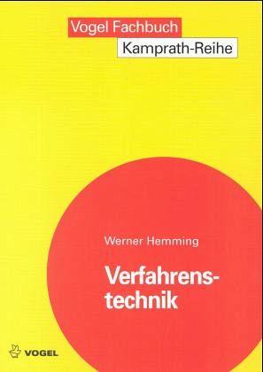 Verfahrenstechnik - Hemming, Werner; Wagner, Walter
