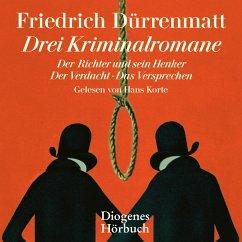Drei Kriminalromane, 11 Audio-CDs - Dürrenmatt, Friedrich