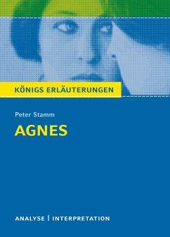 Agnes. Textanalyse und Interpretation zu Peter Stamm. Agnes - Stamm, Peter