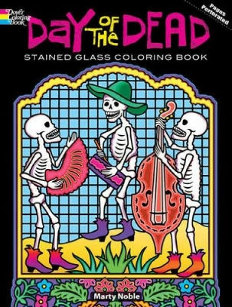 Day Of The Dead/Dia de los Muertos Stained Glass Coloring Book von ...