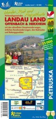Verbandsgemeinden Landau Land, Offenbach & Herxheim, Wander-, Rad- und Freizeitkarte