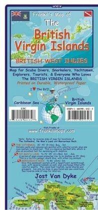 Franko Maps Franko\'s Map of the British Virgin Islands, British West ...