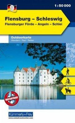 Kümmerly & Frey Outdoorkarte Flensburg - Schleswig