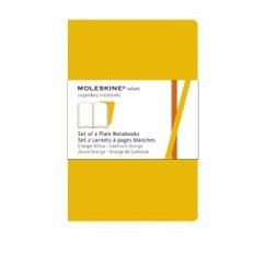 Moleskine Volant, XL, Plain Notebook, orange/yellow, 2er-Set