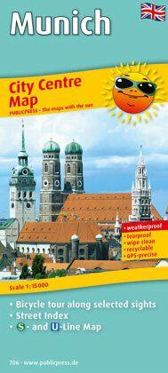 PublicPress Stadtplan City Centre Map Munich - Landkarten portofrei ...