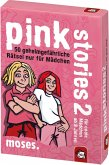 Moses MOS00623 - Pink Stories 2, 50 geheimgefährliche Rätsel nur für Mädchen, Kartenspiel