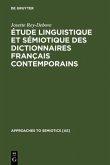 Étude linguistique et sémiotique des dictionnaires français contemporains