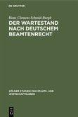 Der Wartestand nach deutschem Beamtenrecht