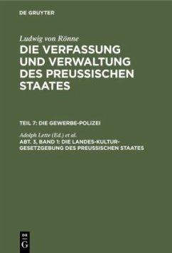 Die Landes-Kultur-Gesetzgebung des Preußischen Staates