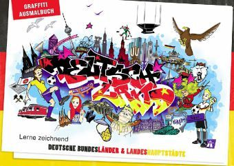 graffiti ausmalbuch deutschland buch. Black Bedroom Furniture Sets. Home Design Ideas