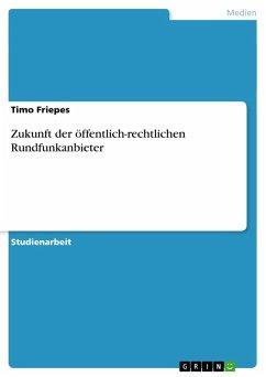 Zukunft der öffentlich-rechtlichen Rundfunkanbieter - Friepes, Timo