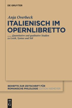 Italienisch im Opernlibretto - Overbeck, Anja