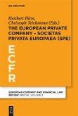 The European Private Company - Societas Privata Europaea (SPE)