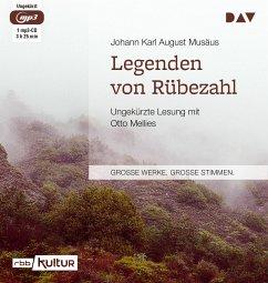 Legenden von Rübezahl, 1 Mp3-CD - Musäus, Johann K. A.