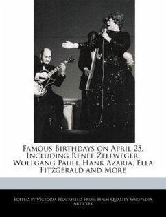 Famous Birthdays on April 25, Including Renee Zellweger, Wolfgang Pauli, Hank Azaria, Ella Fitzgerald and More - Hockfield, Victoria