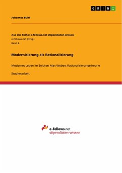 Modernisierung als Rationalisierung