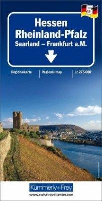 Kümmerly & Frey Karte Hessen - Rheinland-Pfalz