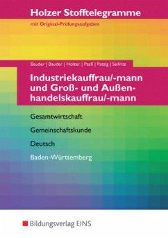 Stofftelegramme Industriekauffrau/mann und Groß...