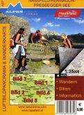 Alpenwelt Luftbildpanorama & Wanderkarte Nassfeld, Hermagor, Pressegger See