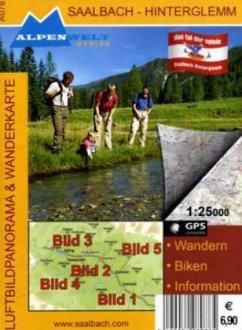 Alpenwelt Luftbildpanorama & Wanderkarte Saalbach-Hinterglemm