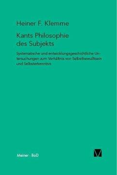 Kants Philosophie des Subjekts