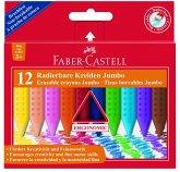 Faber-Castell Kreide Jumbo GRIP radierbar, 12er Set