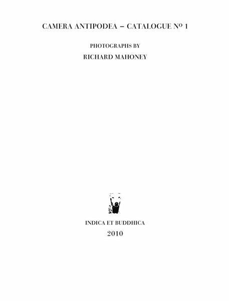 Camera Antipodea - Catalogue No. 1 - Mahoney, Richard Brian