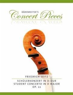 Schülerkonzert in D-Dur op.22, für Violine und Klavier, Klavierpartitur u. Stimme