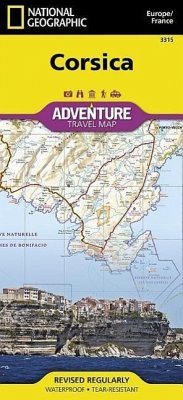 National Geographic Adventure Map Corsica - National Geographic Maps