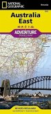 National Geographic Adventure Travel Map Australia East