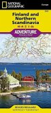 National Geographic Adventure Travel Map Finland and Northern Scandinavia