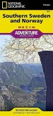 National Geographic Adventure Map Southern Norway, Sweden